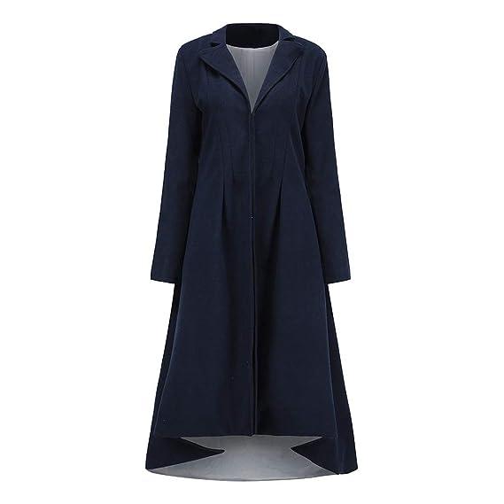 Beladla Abrigo Mujer Invierno Sudaderatrench Mujer Chaqueta Solapa Manga Larga CáLida Delgado Cola De Golondrina Coat Jacket: Amazon.es: Ropa y accesorios