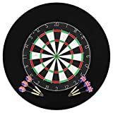 vidaXL Professional Sisal Dartboard with 6 Darts and Surround Throwing Game