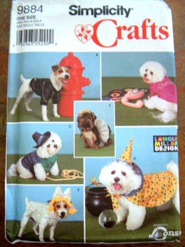Simplicity 9884 Sewing Pattern - Crafts - MAKE - Dog Coats and Costumes - Small to Medium]()