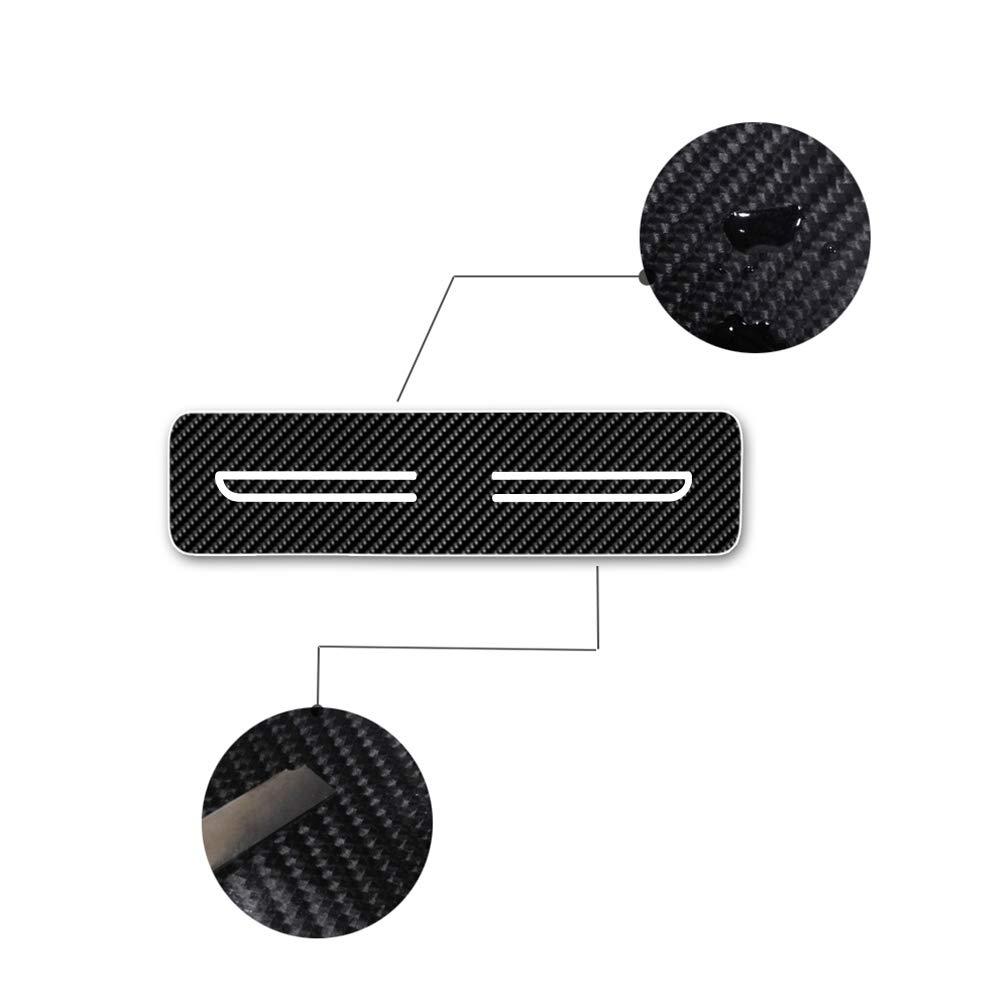 4D Adesivi in Fibra di Carbonio per Batticalcagno Auto AntiGraffio di Protezione per Soglie delle Porte per Astra GTC Cascada Zafira Rosso 4 Pezzi