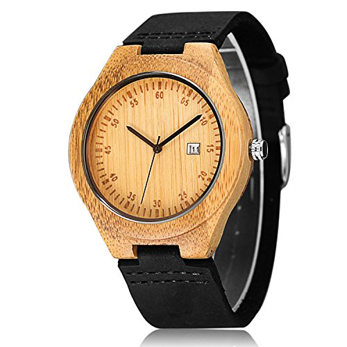 CUCOL Wooden Watches For Men Cas...