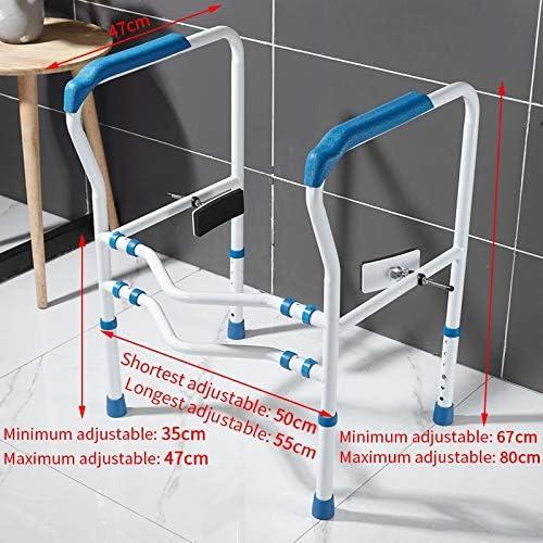 グラブレール フレーム手すりをアシスト高齢者障害者浴室ノンスリップ用トイレ安全レールの手すり、高さ調節医療便器トイレチェア、 (Color : White)
