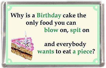Por qué es tarta de cumpleaños? Regalo Souvenir imán para nevera ...