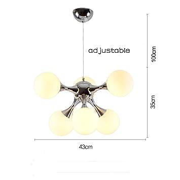 Gut QiangDa Pendelleuchte Creative Creative DNA Molecular Kronleuchter  Postmodern Einfache Kronleuchter Für Schlafzimmer Restaurant Bar (9