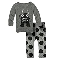 Big Elephant Baby Boys' 2 Piece Long Sleeve Pants Clothing Set (3-6 Months) G...