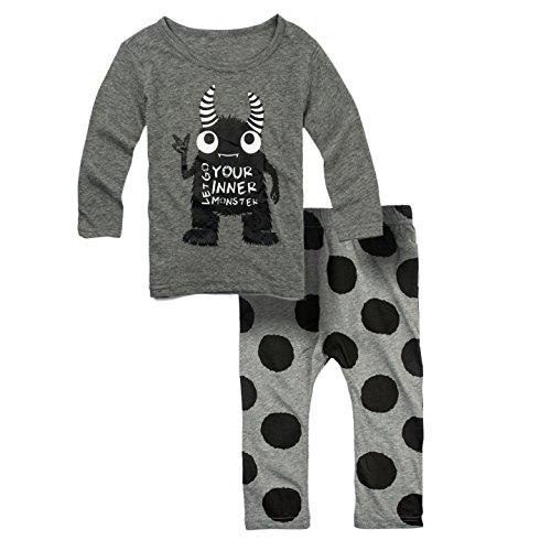 Big Elephant Baby Boys' 2 Piece Long Sleeve Pants Clothing Set (3-6 Months) G32