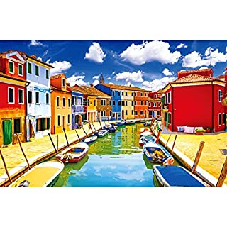Puzzles for Adults Jigsaw, Puzzles 1000 Pieces for Adults Kids Families, Vintage Paintings Landscape Jigsaw Puzzle, Material Large Puzzle Game Toys Gift(Colorful Venice), Stress Reliever