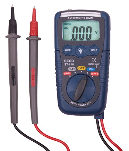 REED Instruments ST-118 Pocket Multimeter with Non-Contact Voltage Detector and Flashlight, (Multimeter Non Contact Voltage Detector)