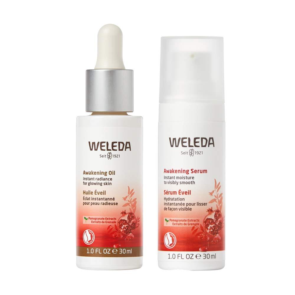 Weleda Skin Awakening Power Duo, 1oz Firming Facial Oil, 1oz Facial Serum