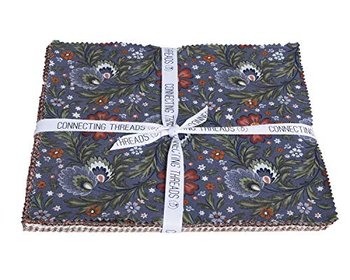 - Connecting Threads Print Collection Precut Quilting Fabric Bundle (Arcadian Dusk - 10