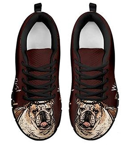 Sneakers 6 Men's Amazing Bulldog Brand Print Casual Black TxpXfqOn