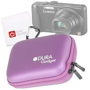 DURAGADGET - Funda Rígida para Cámara de Fotos con Doble Cremallera y Correa de Velcro Interna Elástica para Panasonic Lumix DMC TZ35 + Bonus