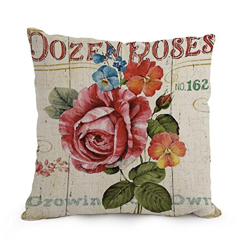 Bestseason Pillow Shams Of Flower Art 12 X 20 Inches / 30 By 50 Cm,best Fit For Wedding,girls,dining Room,boys,kids Girls,sofa Each Side