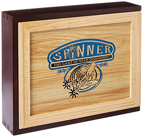 Spinner: The Game of Wild Dominoes (Wooden - Game Domino Spinner