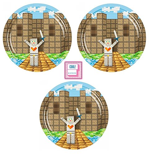 Price comparison product image Minecraft Inspired Dessert Plates (24 Plate Bundle) by ING Distribution