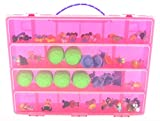 Life Made Better Toy Storage Organizer - Compatible With Cabbage Patch Kids TM Little Sprouts Collector Friends 15 Pack - Durable Carrying Case- Pink