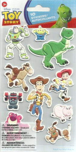 Toy Story Licensed Dimensional Foam (10 STICKERS) DISNEY