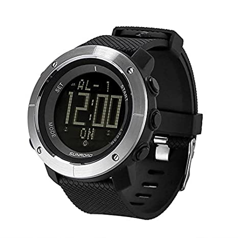 XUBA Outdoor Watch - World Time Countdown Stop Watch Backlit Display 3ATM Waterproof Alarm Clock