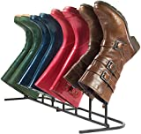 4-Pair New Modern Standing Boot Rack Organizer, Elegant & Steady Boot Organizer - Perfect for Storing & Drying .Simple Assembly Required.