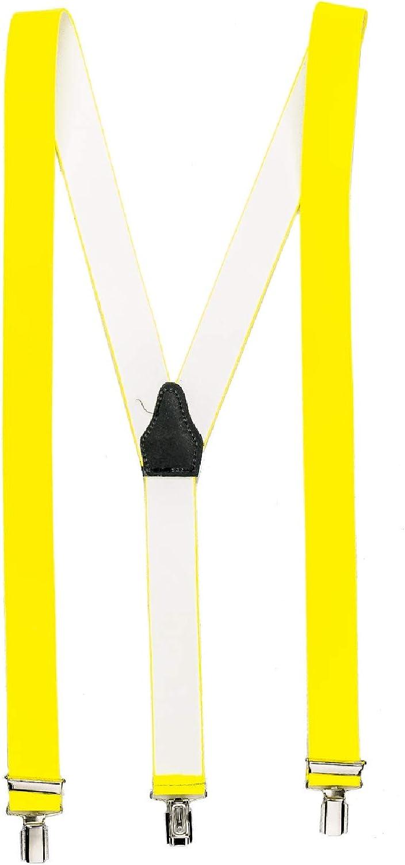 shenky Bretelle larghe con forma a Y diversi colori 3 clip resistenti