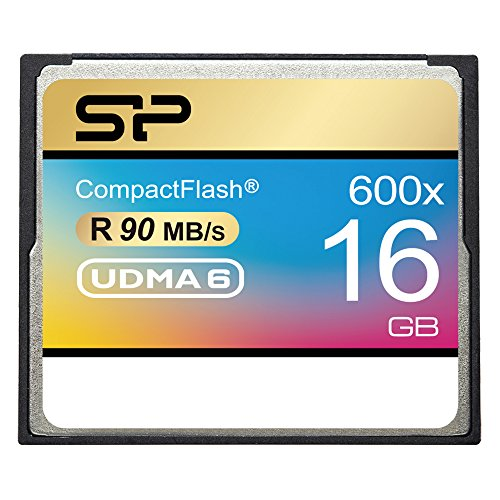 Silicon Power 16GB Hi Speed 600x Compact Flash Card (SP016GBCFC600V10) by Silicon Power