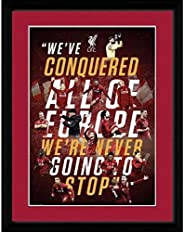 Liverpool FC Champions Of Europe Picture (One Size) (Red/Black)
