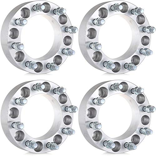 ECCPP 4PCS 8x6.5 To 8x6.5 2 inch Wheel Spacers 8 Lug for 1999-2010 GMC Sierra 2500HD 3500HD