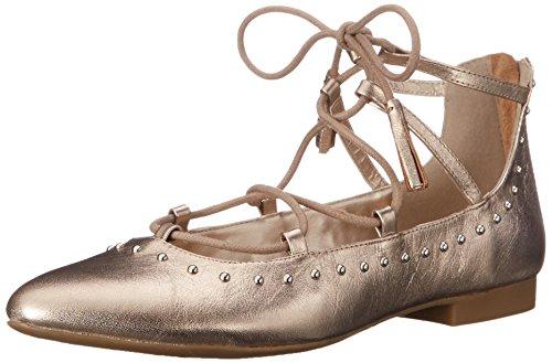 Bella Vita Womens Ollie Ballet Flat Champagne