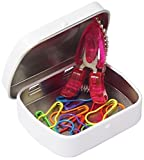 HiyaHiya Notion Tin with Coloured Knitter's Safety Pins and Animal Snips, Varies, 6 x 1.5 x 4.5 cm