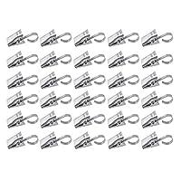 Paquete yueton de 30 clips de acero inoxidable con gancho para cortina, fotos, decoración del hogar