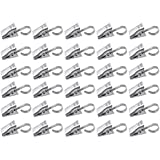 Yueton Pack of 30 Stainless Steel Clips w/ Hook for Curtain, Photos, Home Decoration by Blovess