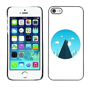 GIFT CHOICE / Teléfono Estuche protector Duro Cáscara Funda Cubierta Caso / Hard Case for iPhone 5 / 5S // Mountain Climber Peak Clouds //