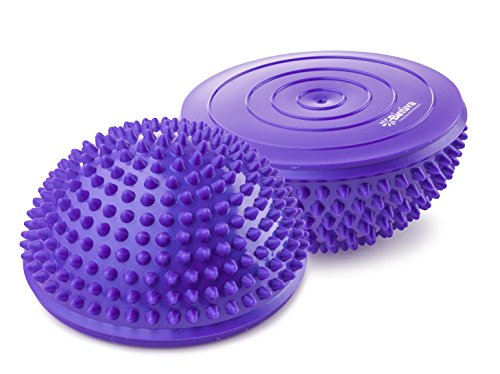 Balance Pods Set - 1 Pair Hedgehog Style Domed Stability Pods for Children and Adults , Purple