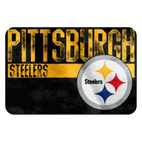 The Northwest Company NFL Pittsburgh Steelers Embossed Memory Foam Rug, One Size, Multicolor by The Northwest Company
