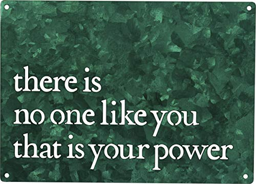 Primitives by Kathy Precision Cut Metal Wall Art, 7 x 5-Inches, Emerald Green - There is No One Like You