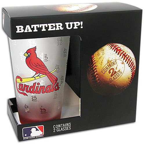UPC 842451004455, Cardinals Boelter MLB Frosted Glasses Set of 2 ( sz. One Size Fits All, Cardinals )