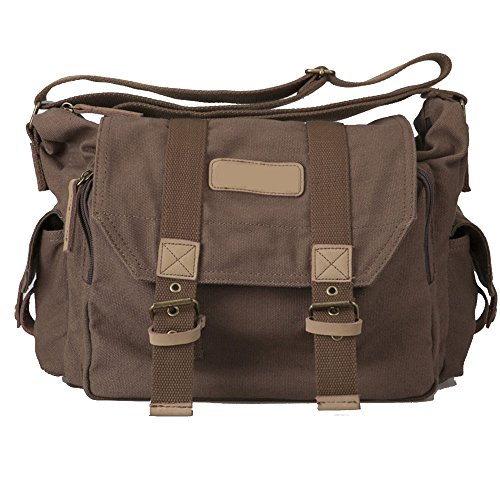 Camera Bag,Camera Bag,DSLR Messenger Camera Bag with Removable Insert for Canon Nikon Sony Pentax (brown) Pentax Leather