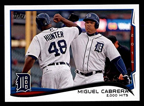 2000 Topps Update Baseball - 2014 Topps Update # 300 Checklist 5 - Baseball Highlights - 2,000 Hits Miguel Cabrera Detroit Tigers (Baseball Card) Dean's Cards 8 - NM/MT Tigers