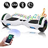 """EPCTEK 6.5"""" Hoverboard, Two Wheel Self Balancing Hoverboard with LED Light Free Carry Bag - UL2272 Certified Hover Board for Adults Kids"""