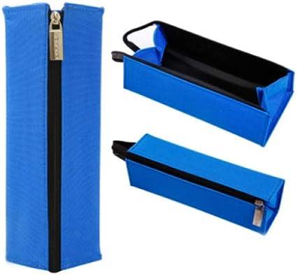 Bolsa De Papelería Dividida, Estuche De Lápices De Lona De Lápiz Simple, Estuche De Lápices De Estudiante Azul: Amazon.es: Oficina y papelería