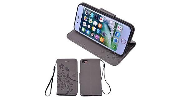 Amazon.com : eDealMax Flores de mariposas carpeta del Cuero cubierta del tirón de las cajas del teléfono de Shell gris Para el iPhone 7 : Sports & Outdoors