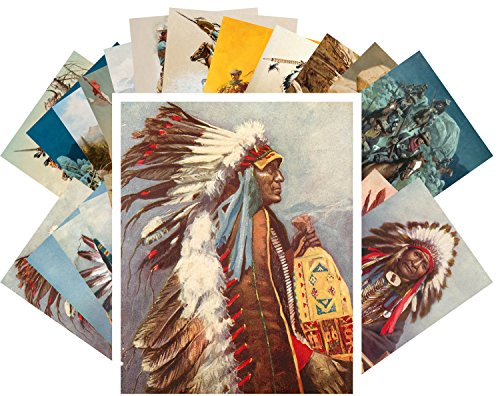 s Indian Chief Native American Life and Portraits Vintage Painting ()