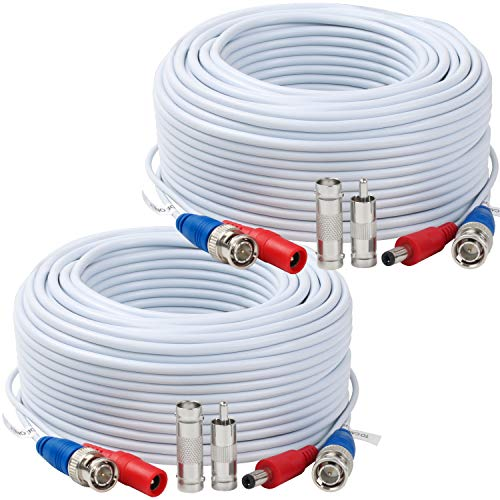 - Tainston 2 Pack 150 Feet BNC Video Power Cable,BNC Extension Wire Pre-Made All-in-One Video Security Camera Wire with Connectors for CCTV Camera DVR Surveillance System
