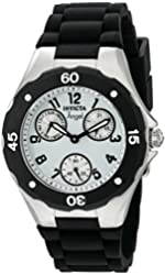 Invicta Watches Womens Angel Chronograph Polyurethane Band Watch