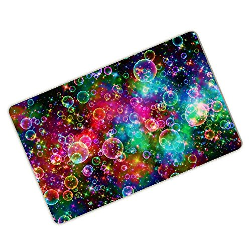 Beautiful Bubble (Bathroom Doormat Colorful Bubbles Beautiful Rainbow Abstract Personalized Durable Machine-washable Mat 23.6