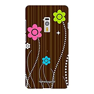 HomeSoGood Floral Illusion Brown 3D Mobile Case For OnePlus 2 (Back Cover)