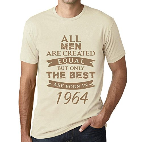 Men's Vintage Tee Shirt Graphic T Shirt Born in 1964 Natural (1964 Natural)