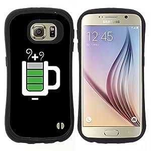 "Pulsar iFace Series Tpu silicona Carcasa Funda Case para Samsung Galaxy S6 , Full Service Taza Negro Es"""