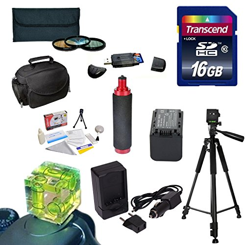 Best Value Accessory Kit for the Sony NEX-VG30 Camcorder Includes - 16GB High Speed Error Free SDHC Memory Card + SDHC Card Reader + 58MM 3 Piece Pro Filter Kit (UV, CPL, FLD) + Sony FV70 Extended Life Replacement Battery + Rapid AC/DC Battery Charger + 6 by Opteka