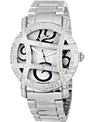 JBW Womens JB-6214-B Olympia Stainless Steel Designer Dial Diamond Watch